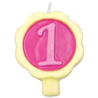 Design Design Dazzle-1 Birthday Candle, Multicolor