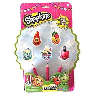 Shopkins Collectable Erasers And Mini Pencils