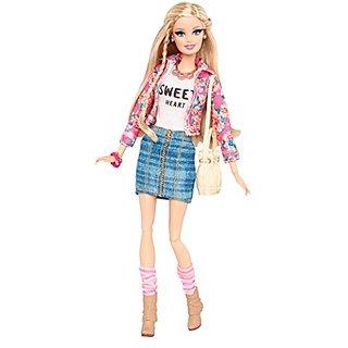 Barbie Style Floral Jacket Doll