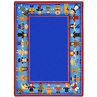 Joy Carpets Kid Essentials Early Childhood Children of Many Cultures Rug, Multicolored, 78