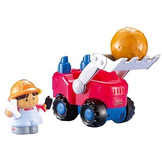 Fisher Price Little People Michael with Bulldozer