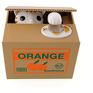 OliaDesign Cute Automatic Stealing Coin Money Box