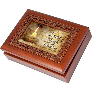 Cottage Garden The Lord Is Ornate Woodgrain Music Box Jewelry Box Plays How Great Thou Art