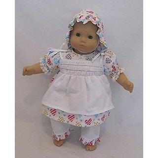 Bitty Baby Dress set-Very unique dress-Wonderful Quality-Fits all 15-16