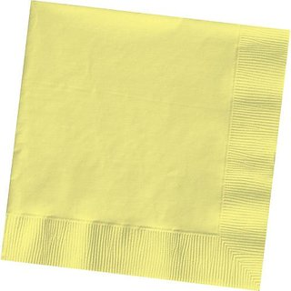 Light Yellow Beverage Napkin