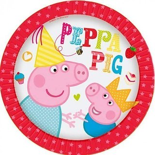 8 Peppa Pig Party Small Dessert Plates 7