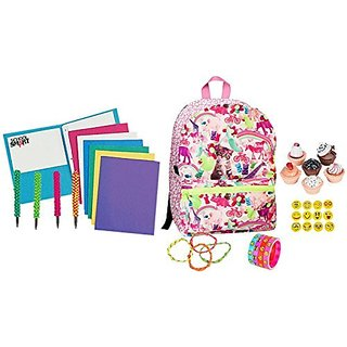 Style Lab Fashion Angel Kitty Wonderland Backpack 45 Piece Back to School Bundle