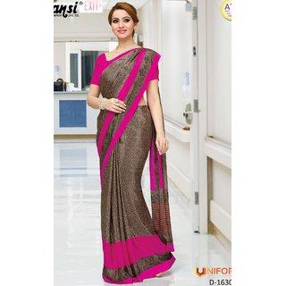 Sudarshan Silks Beige Self Design Raw Silk Saree with Blouse
