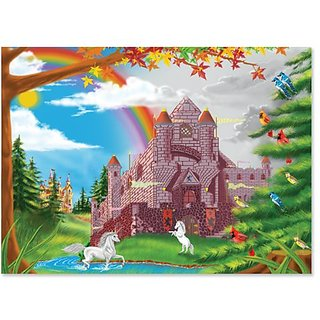 Melissa & Doug Enchanted Castle Jigsaw Puzzle, 60-Piece