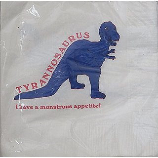 Tyrannosaurus T Rex 3-Ply Party Napkins Pack of 16 - I Have a Monstrous Appetite!