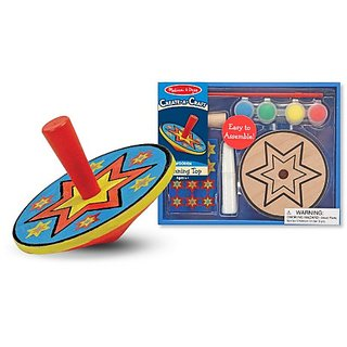 Melissa & Doug Create-a-Craft Wooden Spinning Top Kit