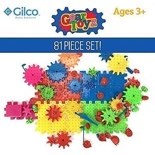 Gear Toyz - Spinning Gear Puzzle - Interlocking Blocks - 81 Pieces - Ideal Toy For Children - Motorized Gears - Creative