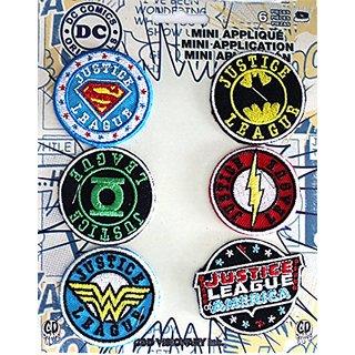 Application DC Comics Originals Justice League 6 Pat Ch Set Novelty, 2