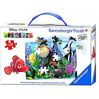 Ravensburger Disney Finding Nemo Hanging Around Puzzle in a Suitcase Box (100 Piece)