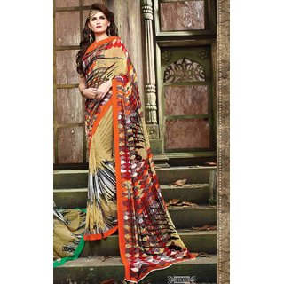 Sudarshan Silks Multicolor Self Design Cotton Saree with Blouse