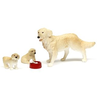 Lundby Smaland Dollhouse Dog Family Set