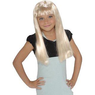 ChildS Rock Star Long Blonde Wig