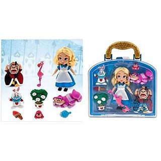 Disney Animators Collection Alice in wonderland Mini Doll Play Set - 5 - New