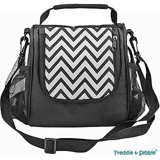 Freddie and Sebbie Lunch Bag - Insulated Lunch Cooler - Black