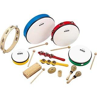 Nino Percussion NINOSET012 Classroom Rhythm Set, 12 Pieces