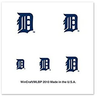 Detroit Tigers Fingernail Tattoos