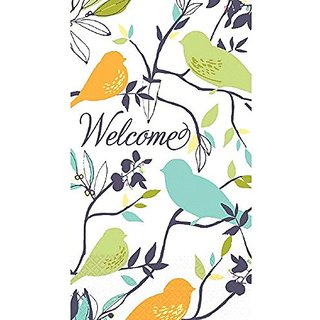 Amscan Welcome Birds Disposable 2 Ply Eco Paper Guest Towels Tableware (16 Piece), 8