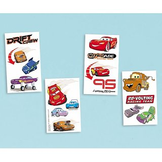 Disney Cars Party Supplies Tattoos 16ct Sheet