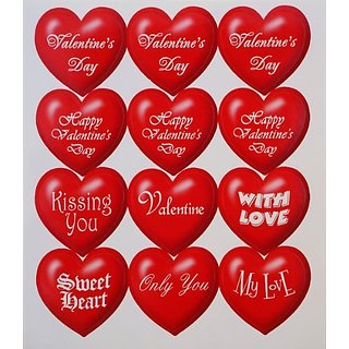 Red and White with Meaningful word hearts stickers.-Variety of sizes.-4.3-inch by 5-inch sheet.-The set include 10 shee