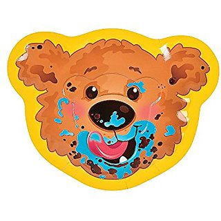 1st Birthday Bear Dessert Plates - 8 Pieces