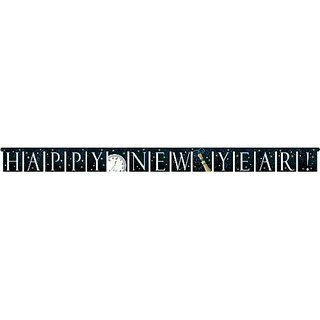 Creative Converting Hanging Dcor Champagne Swirl Design Happy New Year Banner