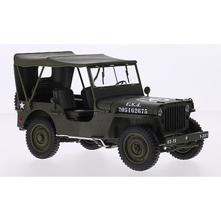 Jeep Willys, matt olivee, U.S. Army, Model Car, Ready-made, Welly 1:18