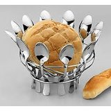 Awkenox Bread Basket Stainless Steel