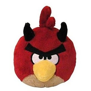 Angry Birds Seasons 5 inch Halloween Devil Red Bird No Sound Plush