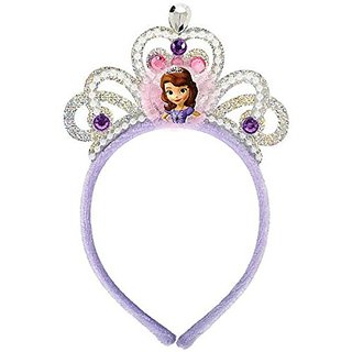 Disney Sofia The First Deluxe Princess Birthday Party Tiara - Embellished Fabric (1 Piece), Multi Color, 7