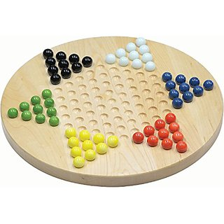 Maple Chinese Checkers - Made in USA