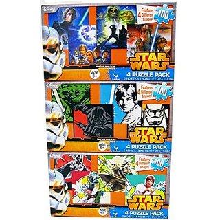 12 Star Wars Puzzles for Kids Ages 6+ 100 Pieces Bundle of 3 - 4 Puzzle Packs 5