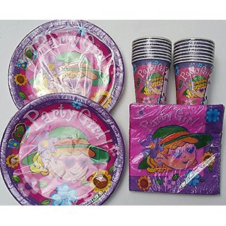 Celebrate Party Girl! Birthday Plates (16) Napkins (16) Cups (16)