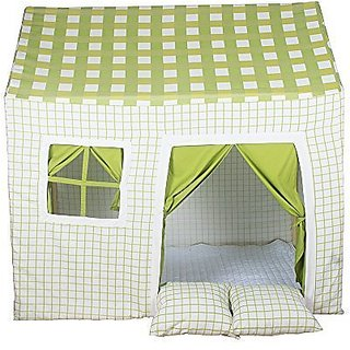 Pericross 100% Cotton Canvas Kids Cottage Playhouse Room Tent Playset for 2-4 Children Outdoor and Indoor