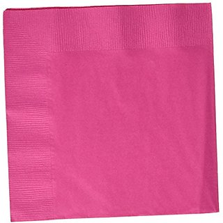 Amscan Disposable 3-Ply Dinner Party Napkins (20 Pack), Magenta, 8.13 x 8
