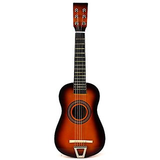 Velocity Toys Acoustic Classic Rock N Roll 6 Stringed Toy Guitar Musical Instrument w Guitar Pick, Extra Guitar String (