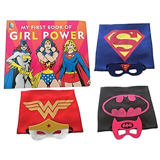 Girl Power Superhero Storytime Gift Set - Book with Costume Capes and Masks