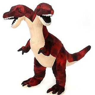 Fiesta Toys Red Two Headed Dinosaur Plush Stuffed Animal Toy - 18 Inches