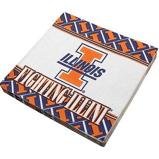 NCAA Illinois Fighting Illini 16-Count Luncheon Napkins