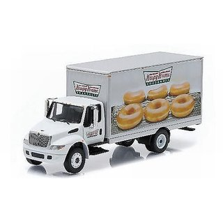 International Durastar Box Van, Krispy Kreme Doughnuts, Model Car, Ready-made, Greenlight 1:64