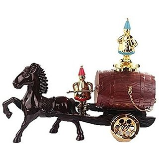 「Shikyou」 Antique Style Music Box Wine Barrel Horse-drawn Carriage Type Easy Assembling