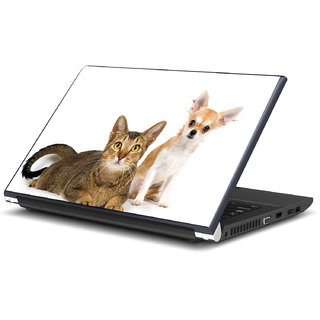 Cute Cat and Dog Laptop Skin by Artifa LS0779