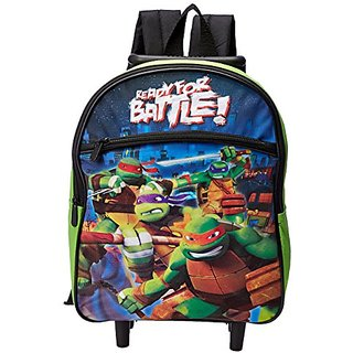 Teenage Mutant Ninja Turtles Boys Ready For Battle Rolling Backpack, Multi, One Size