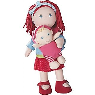 HABA Soft Rubina Doll with Removable Baby in Carrier, 12