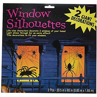 Amscan 459021 Spider Window Silhouette