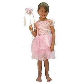 2 Pc Sparkly Princess Dress Set with Matching Heart Wand Small